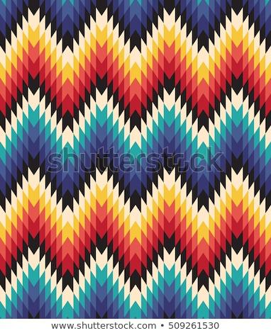 vektor · végtelen · minta · tollak · őslakos · amerikai · indián · stílus - stock fotó © balabolka