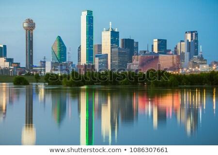 şehir · merkezinde · Dallas · Teksas · gece · Bina · manzara - stok fotoğraf © cboswell