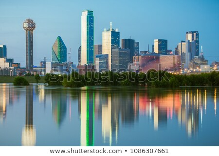 panoramik · Dallas · Teksas · ufuk · çizgisi · atış · binalar - stok fotoğraf © cboswell