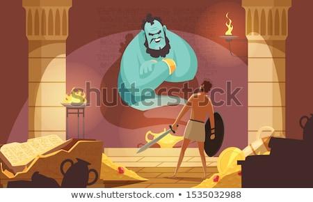 śmierci · żywy · cartoon · scary · starożytnych - zdjęcia stock © tujuh17belas