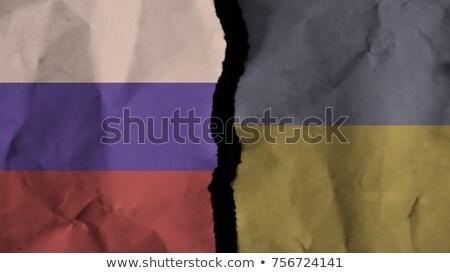 Ucrânia vs Rússia negócio mapa projeto Foto stock © netkov1