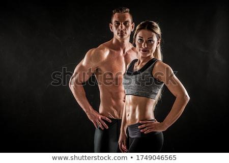 Twee mooie atleet trein een Stockfoto © bezikus