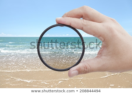 Circular polarizing filter isolated Stock photo © jordanrusev