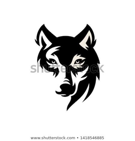 farkas · tetoválás · törzsi · illusztráció · természet · fekete - stock fotó © carodi