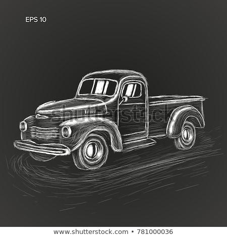 camion · di · consegna · icona · gesso · lavagna - foto d'archivio © RAStudio