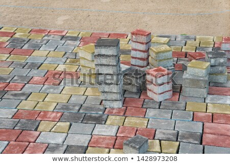 Sand Color Figured Paving Slabs. Stock photo © tashatuvango