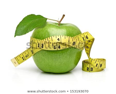 Vers groene appel meetlint geïsoleerd witte Stockfoto © tetkoren