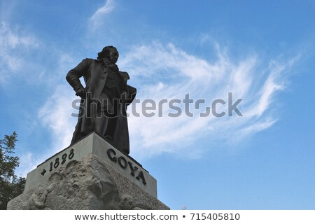 statue of goya outside prado museum madrid stock photo © backyardproductions