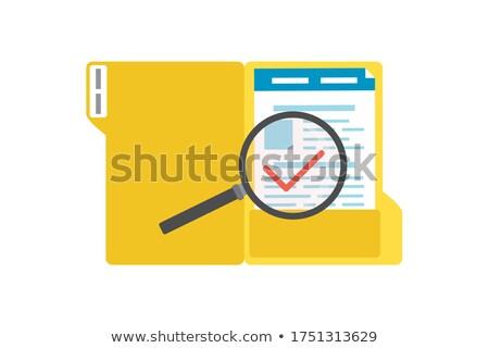 folder in catalog marked as surveys stock photo © tashatuvango