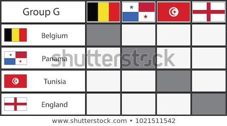 Frankreich Panama Fahnen Puzzle isoliert weiß Stock foto © Istanbul2009