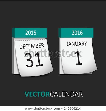 neue · Jahre · Kalender · rot · top · Dezember - stock foto © orensila