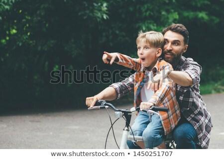 Bambino mani daddy punti dito famiglia Foto d'archivio © Paha_L