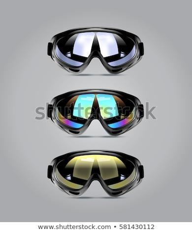 winter sport glasses isolated stock photo © shutswis