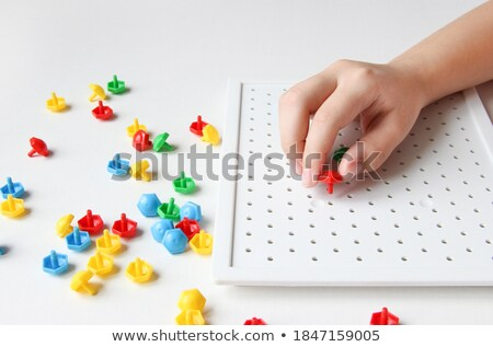 Profiter rouge puzzle blanche communication marketing Photo stock © tashatuvango