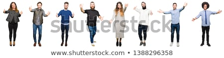 Senior happy man with wide open arms Stock photo © ozgur
