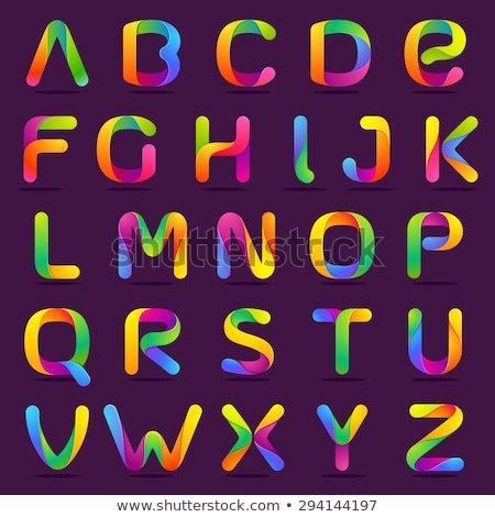 comic colorful alphabet stock photo © voysla