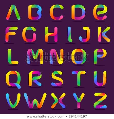 cute · 3D · alfabeto · fiori · scuola · bambino - foto d'archivio © voysla
