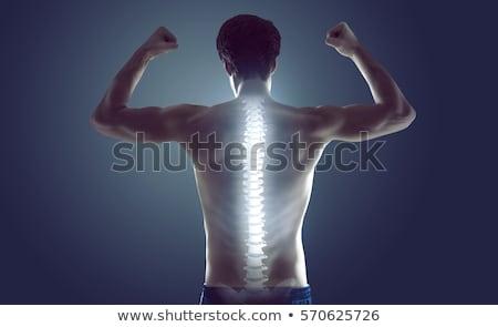 強い ボディービルダー 痛い 戻る 首 黒 ストックフォト © wavebreak_media