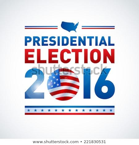 2016 · президентский · выборы · кнопки · 3d · иллюстрации · политический - Сток-фото © creisinger