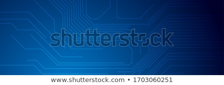 tech background with curved circuit board stock photo © saicle