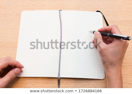 Notebook and ball-point pen Stock photo © Serg64