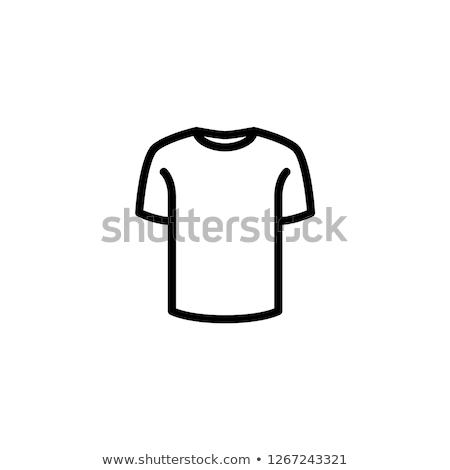 Zdjęcia stock: Tshirt · ikona · sportu · projektu · sztuki · kolor