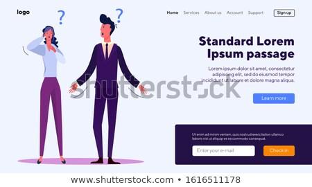 banner of misunderstanding stock photo © timbrk
