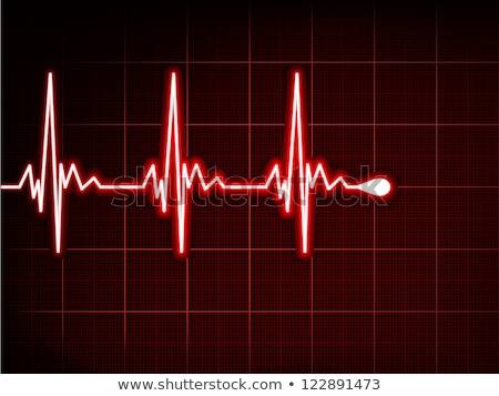 ekg · piros · szív · szívdobbanás · eps · nagyszerű - stock fotó © beholdereye