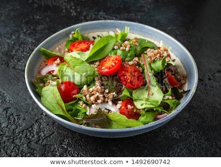 Detoxikáló saláta étel háttér diéta uborka Stock fotó © M-studio