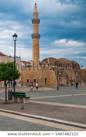 Mezquita ciudad Grecia mojón arquitectura torre Foto stock © tony4urban