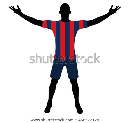 soccer player silhouette in red blue navy Stock photo © Istanbul2009
