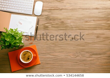 Office tools on wooden table Stock photo © fuzzbones0
