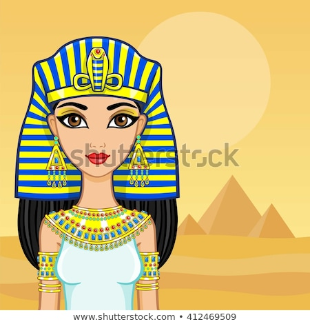 Cleopatra in Egyptian landscape Stock photo © adrenalina