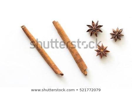 cinnamon and anise isolated on white Stock photo © M-studio