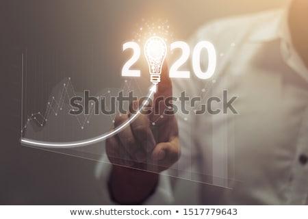 zakenman · jaar · business · gouden · medaille · werknemer - stockfoto © lovleah