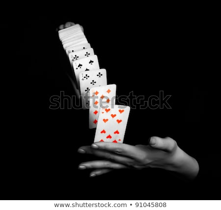 Magician showing his tricks Stock photo © bluering