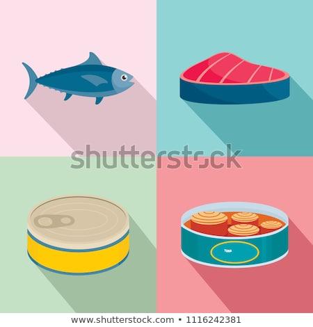 Atum peixe alumínio lata ilustração fundo Foto stock © bluering