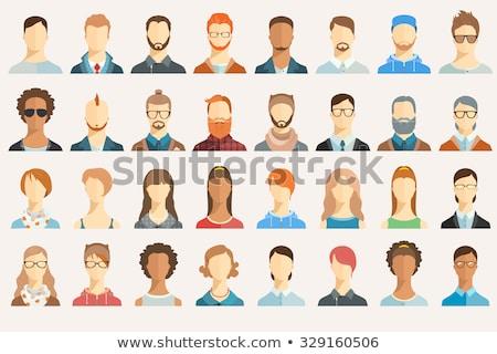 Personas caras vector iconos color retratos Foto stock © vectorikart