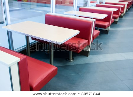 Waiting for food table in row at restaurant Stock photo © zurijeta