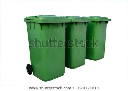 зеленый · мусорный · ящик · белый · пластиковых · закрыто · сумку - Сток-фото © rastudio