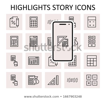 Icon percent with highlight Stock photo © Oakozhan