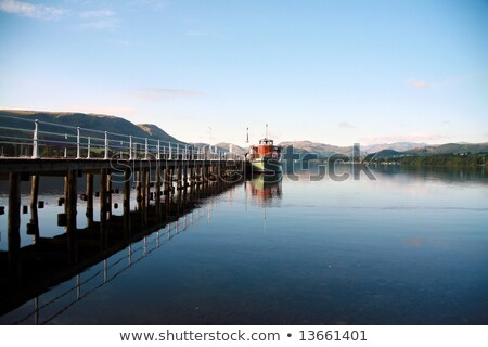 Steamboat docked on Ullswater in the Lake District, England Stock photo © CaptureLight