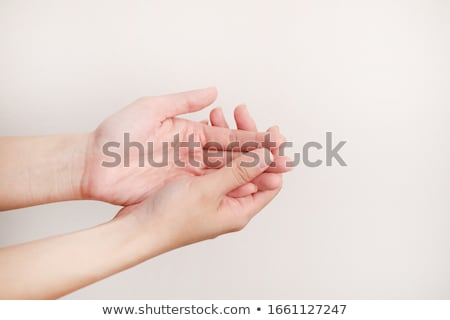 Foamy hands Stock photo © simply