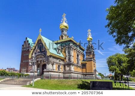 Ortodossa russo cielo blu arte estate servizio Foto d'archivio © meinzahn