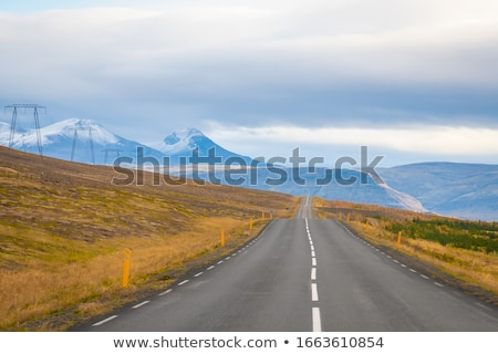 Snow-covered volcanic mountain landscape Stock photo © kb-photodesign