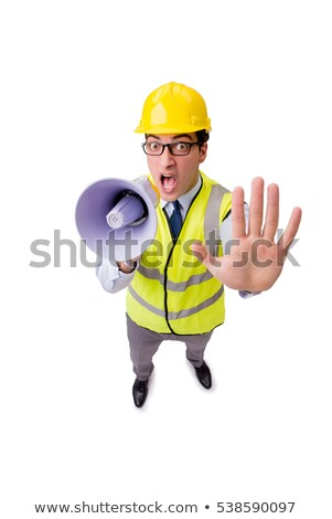 The angry construction supervisor isolated on white Stock photo © Elnur