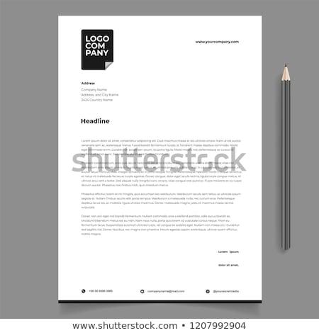 Business Briefkopf Vorlage abstrakte Form Unternehmen Marketing Stock foto © SArts