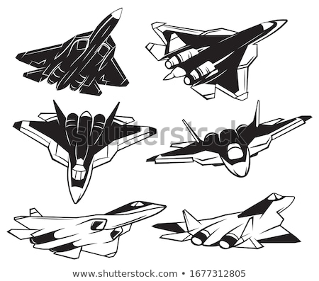 Silhouettes of fighter jets  Stock photo © michaklootwijk