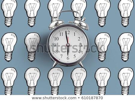 óra villanykörte rajzok kék digitális kompozit földgömb Stock fotó © wavebreak_media