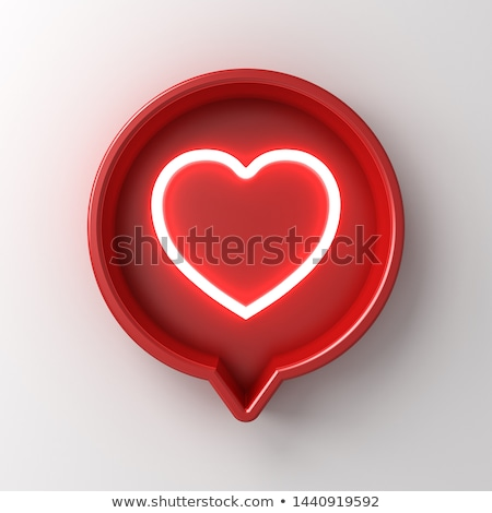 Heart round shape icon Stock photo © Tefi